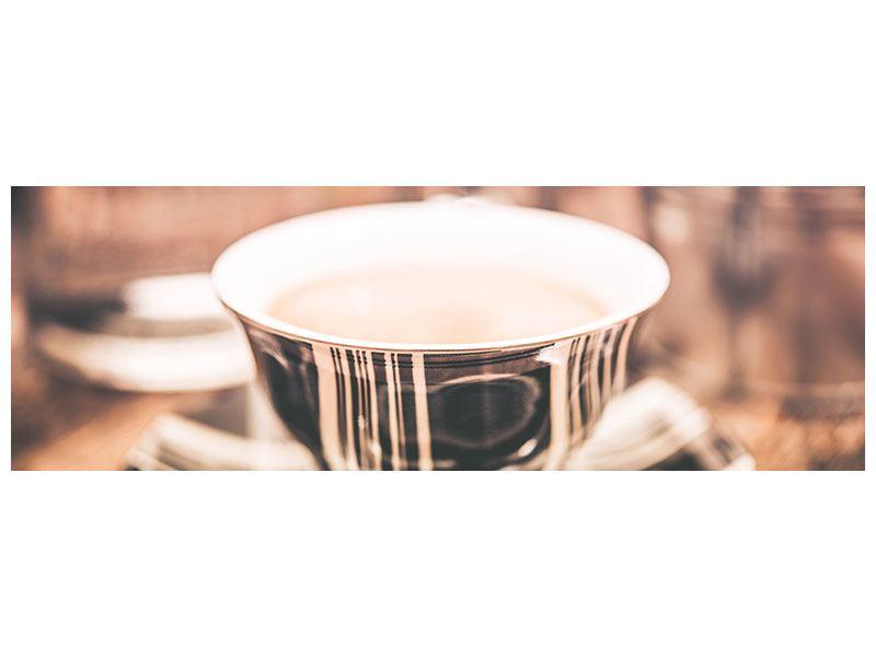 Acrylglasbild Panorama Der Kaffee ist fertig