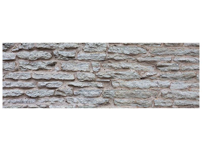 Acrylglasbild Panorama Steinmauer