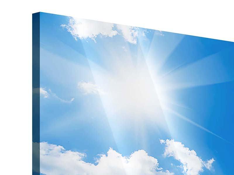Acrylglasbild Panorama Himmelblau