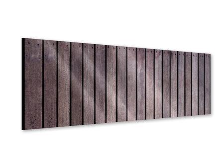 Acrylglasbild Panorama Holzwand