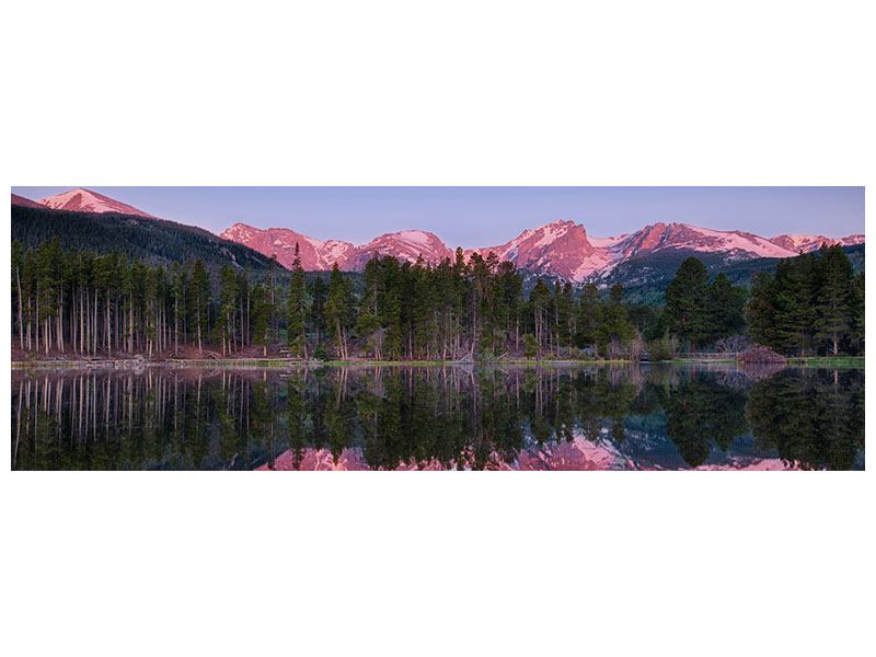 Acrylglasbild Panorama Sprague Lake-Rocky Mountains