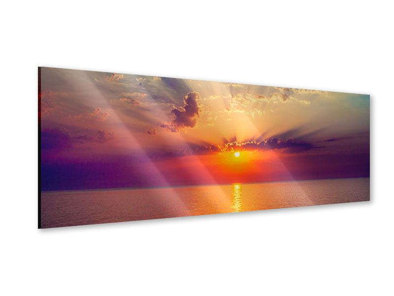 Acrylglasbild Panorama Mystischer Sonnenaufgang