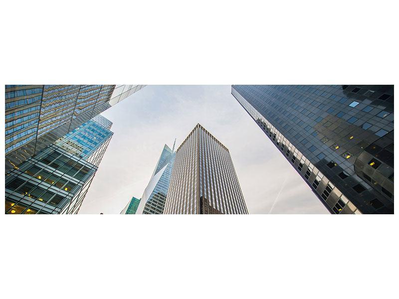 Acrylglasbild Panorama Hochhäuser