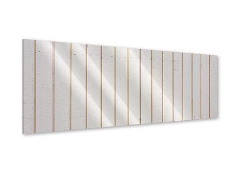 Acrylglasbild Panorama Mediterranes Holz