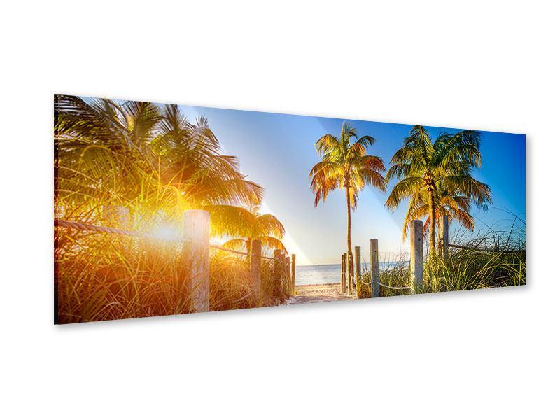 Acrylglasbild Panorama Strandweg