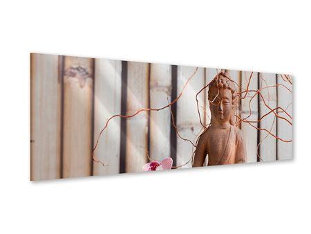 Acrylglasbild Panorama Buddha + Wellness