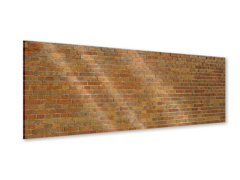 Acrylglasbild Panorama Backsteinhintergrund