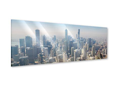 Acrylglasbild Panorama Wolkenkratzer Chicago