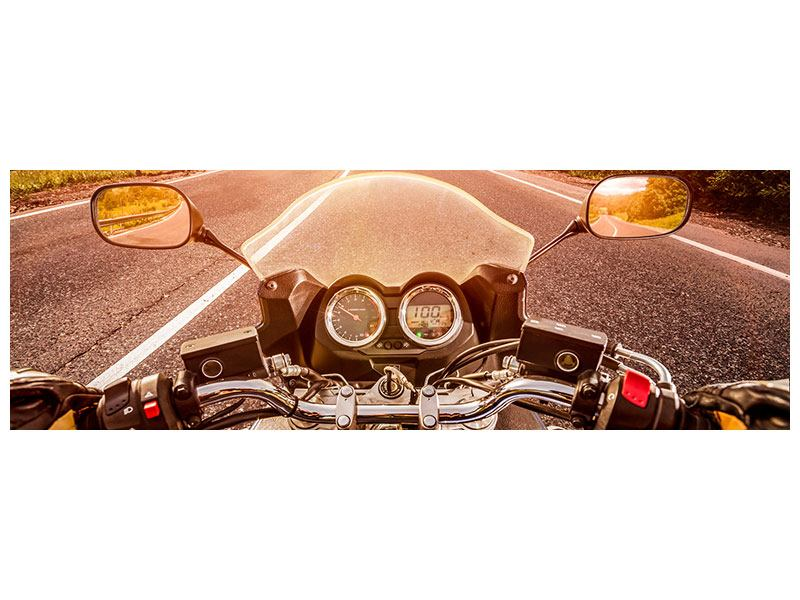 Acrylglasbild Panorama Motorrad-Tour