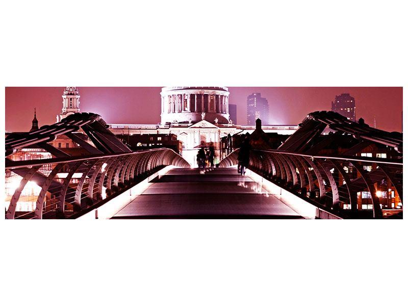 Acrylglasbild Panorama Millennium Bridge
