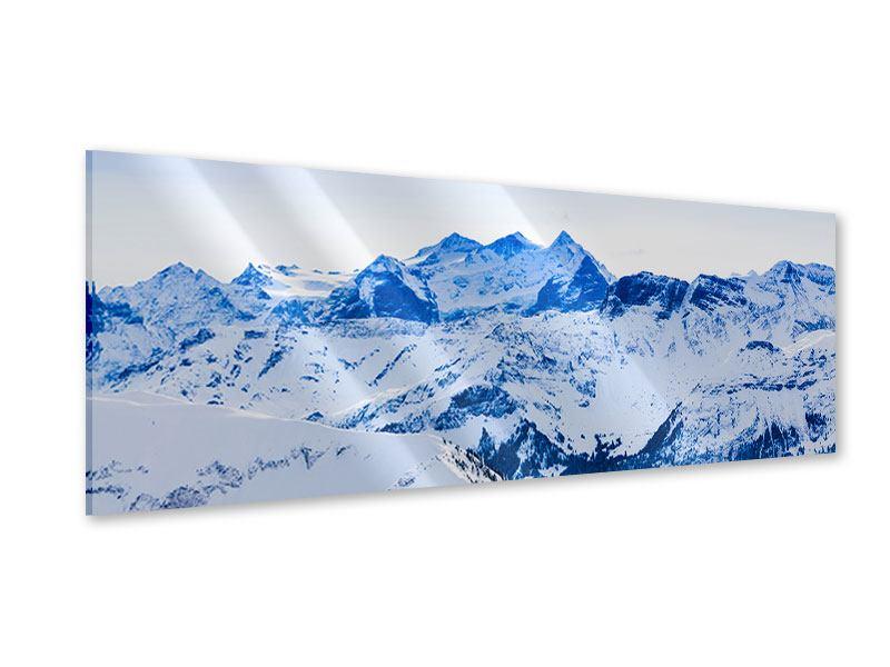 Acrylglasbild Panorama Die Schweizer Alpen
