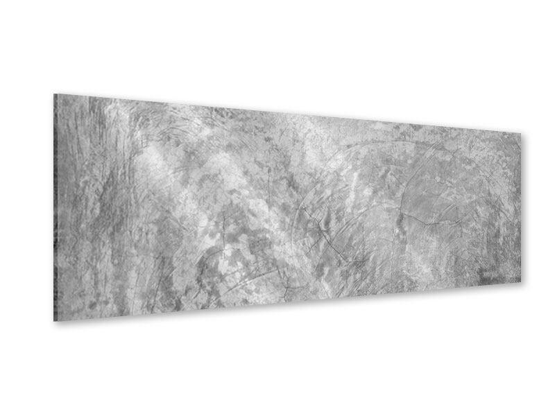 Acrylglasbild Panorama Wischtechnik in Grau