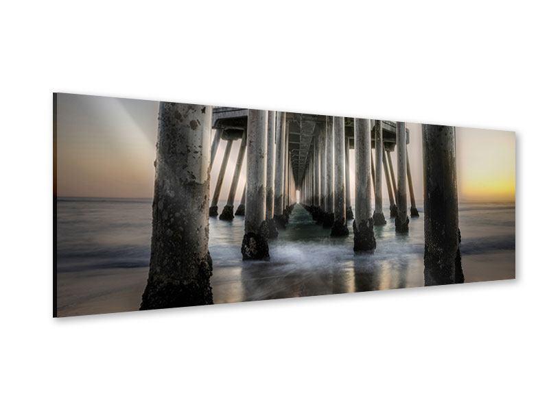 Acrylglasbild Panorama Brückenpfeiler