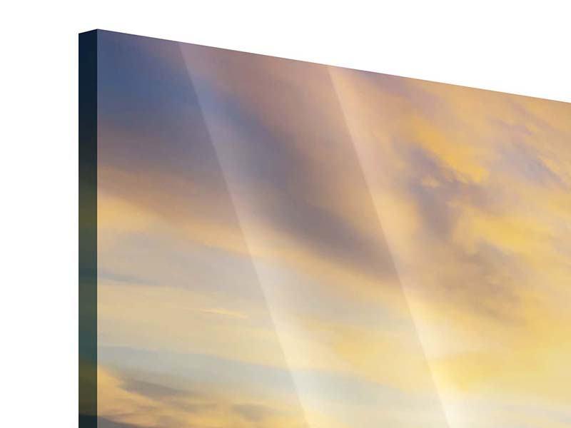 Acrylglasbild Panorama Die Brücke ins Meer