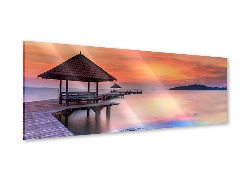 Acrylglasbild Panorama Paradiesische Brücke