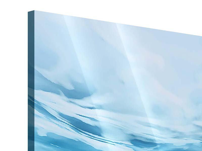 Acrylglasbild Panorama Lichtspiegelungen unter Wasser