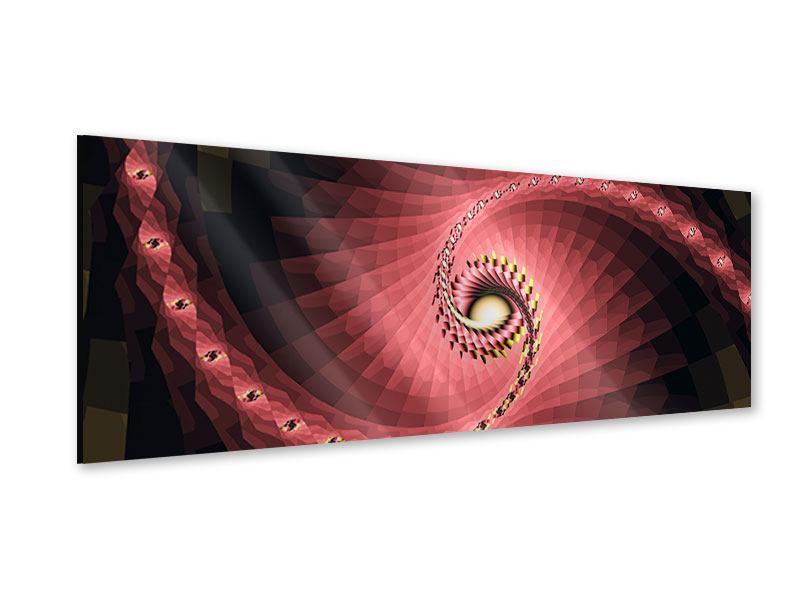 Acrylglasbild Panorama Abstrakte Windungen