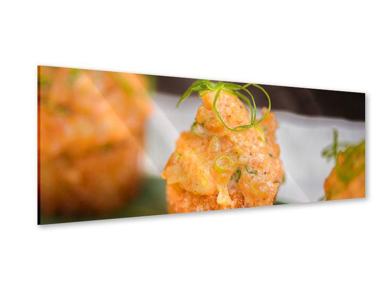 Acrylglasbild Panorama Asiatische Küche
