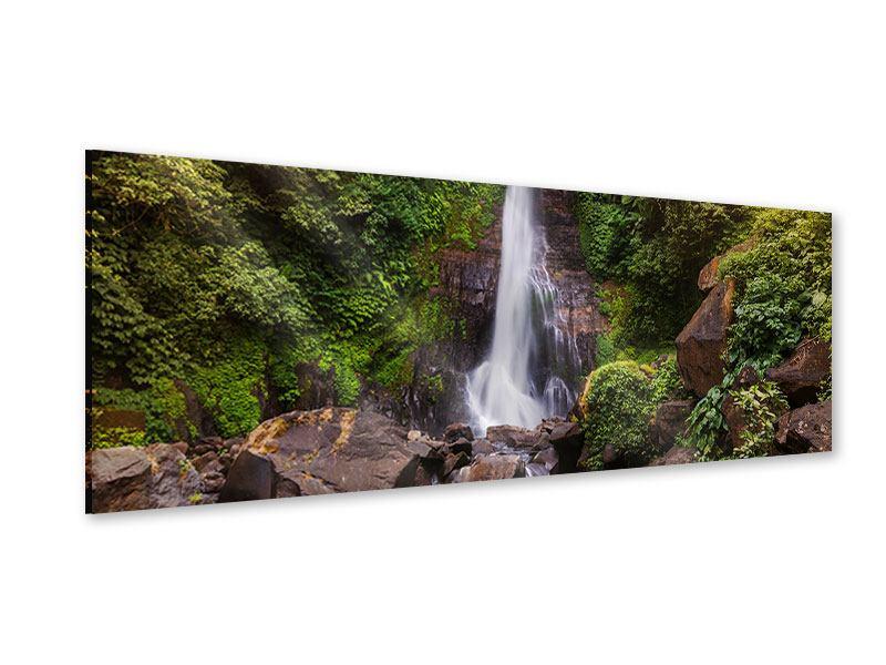 Acrylglasbild Panorama Wasserfall Bali