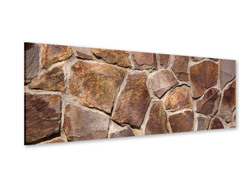 Acrylglasbild Panorama Designmauer