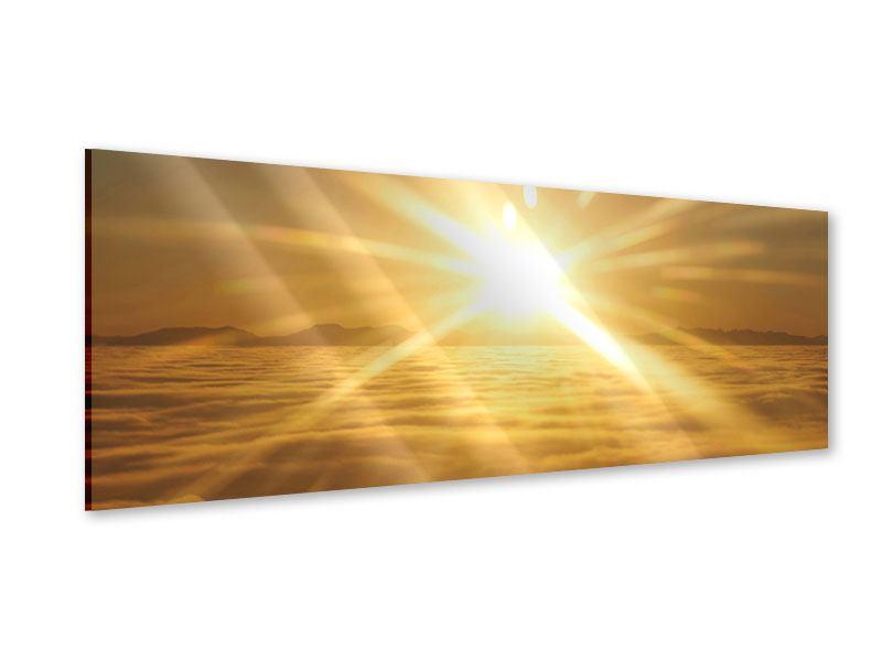 Acrylglasbild Panorama Über dem Wolkenmeer