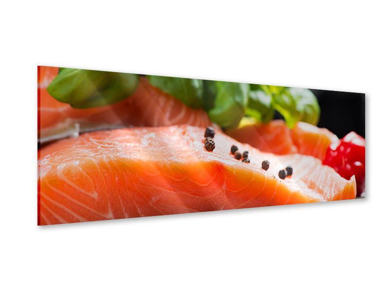 Acrylglasbild Panorama Frischer Fisch
