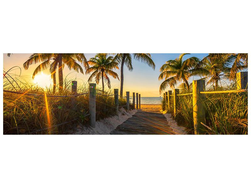 Acrylglasbild Panorama Das Strandhaus