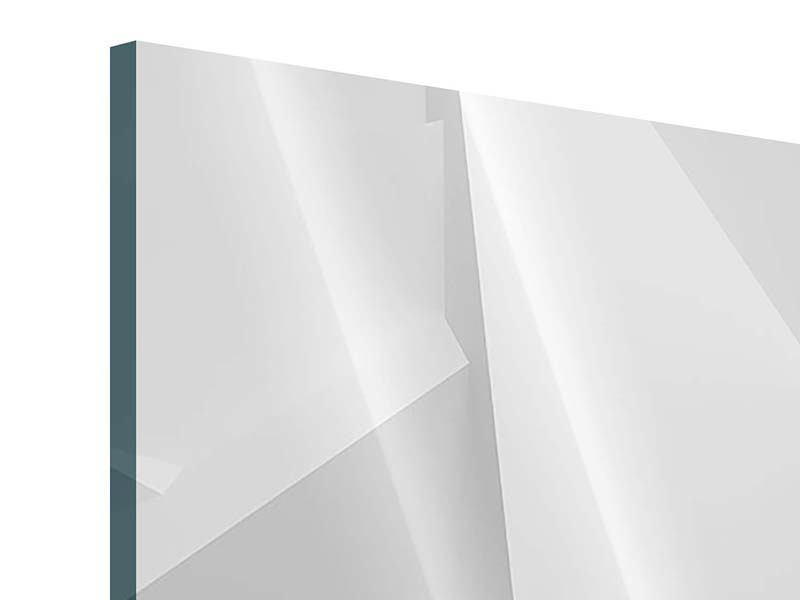 Acrylglasbild Panorama 3D-Raster