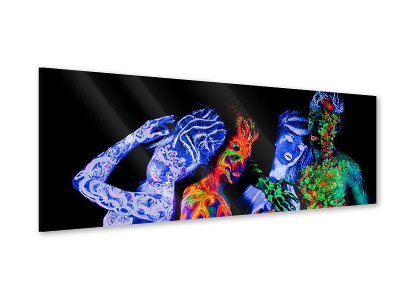 Acrylglasbild Panorama Bodypainting