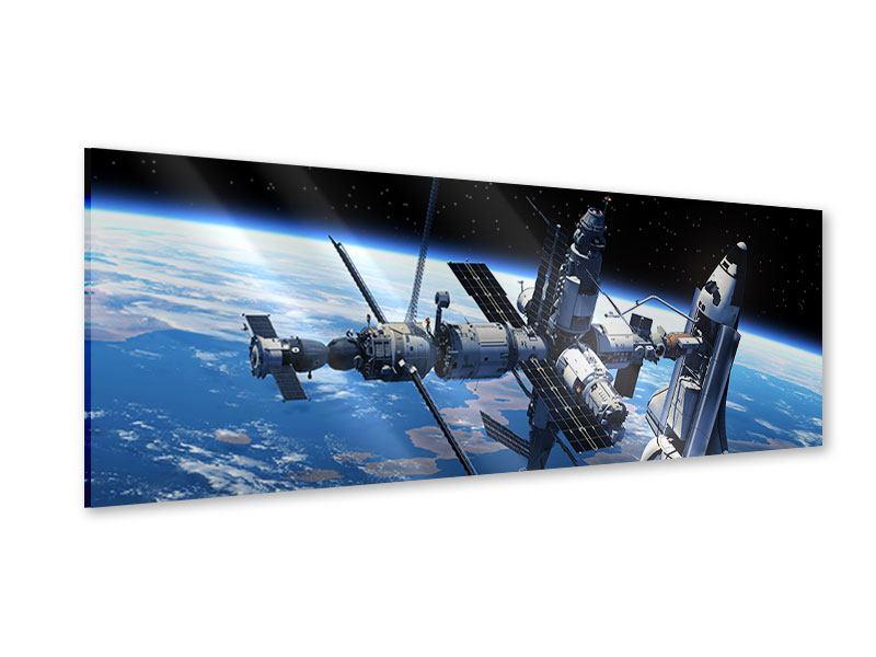 Acrylglasbild Panorama Satellit
