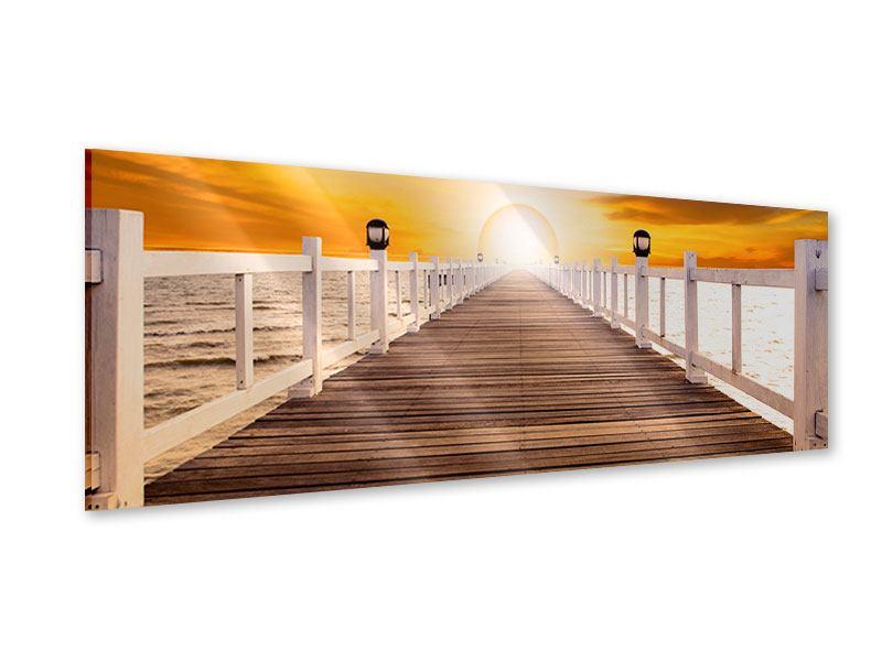 Acrylglasbild Panorama Die Brücke Ins Glück