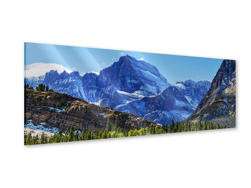 Acrylglasbild Panorama Dem Gipfel entgegen