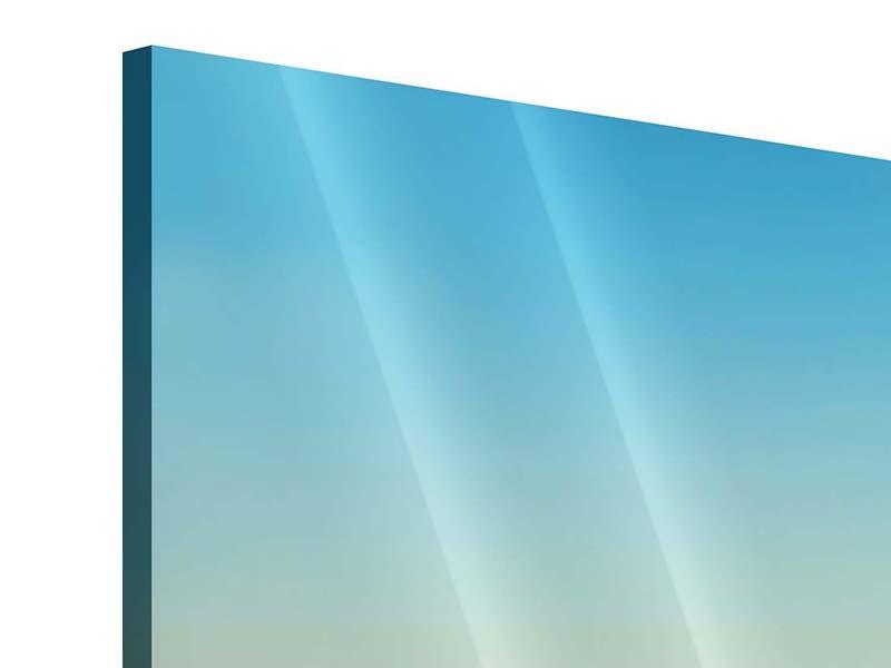 Acrylglasbild Panorama Dämmerung über den Wolken