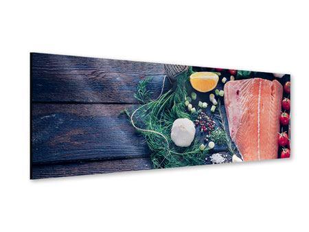Acrylglasbild Panorama Fangfrischer Fisch