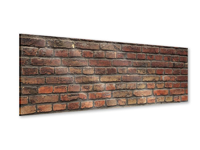 Acrylglasbild Panorama Brick Wall