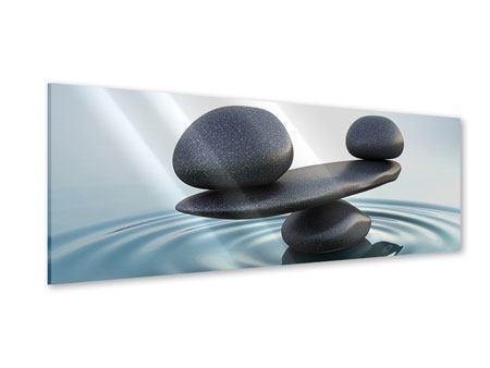 Acrylglasbild Panorama Steinbalance