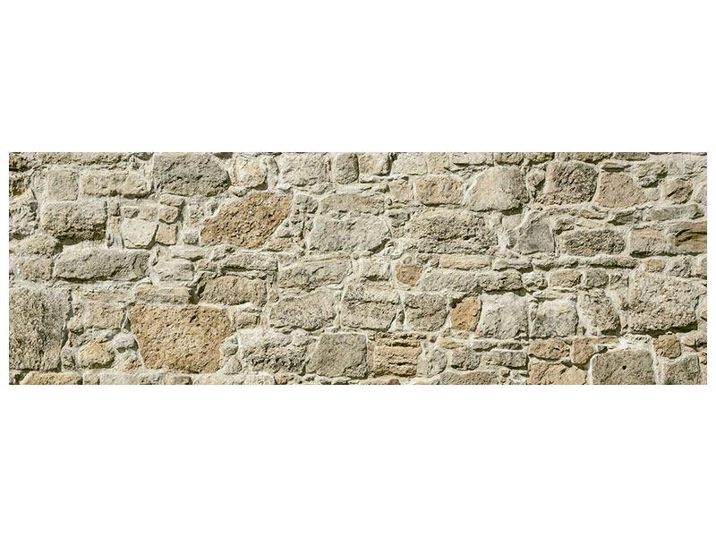 Acrylglasbild Panorama Naturmauer