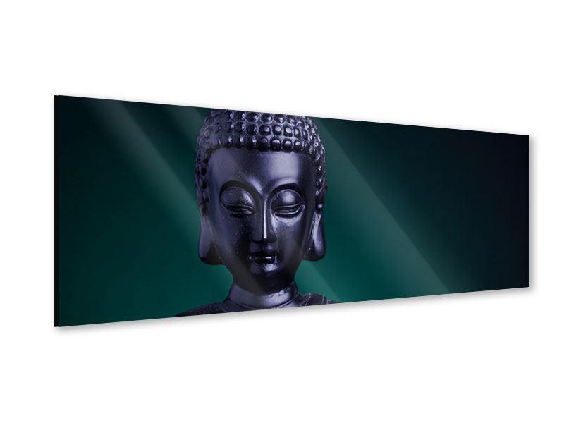 Acrylglasbild Panorama Die Weisheit des Buddhas