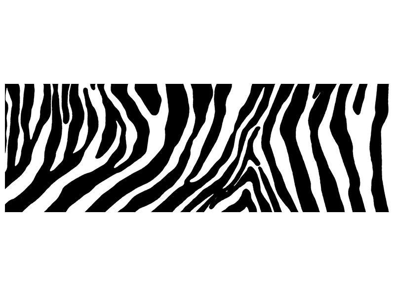 Acrylglasbild Panorama Zebramuster