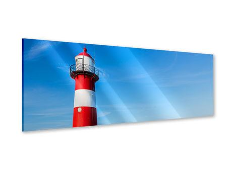 Acrylglasbild Panorama Sommer beim Leuchtturm