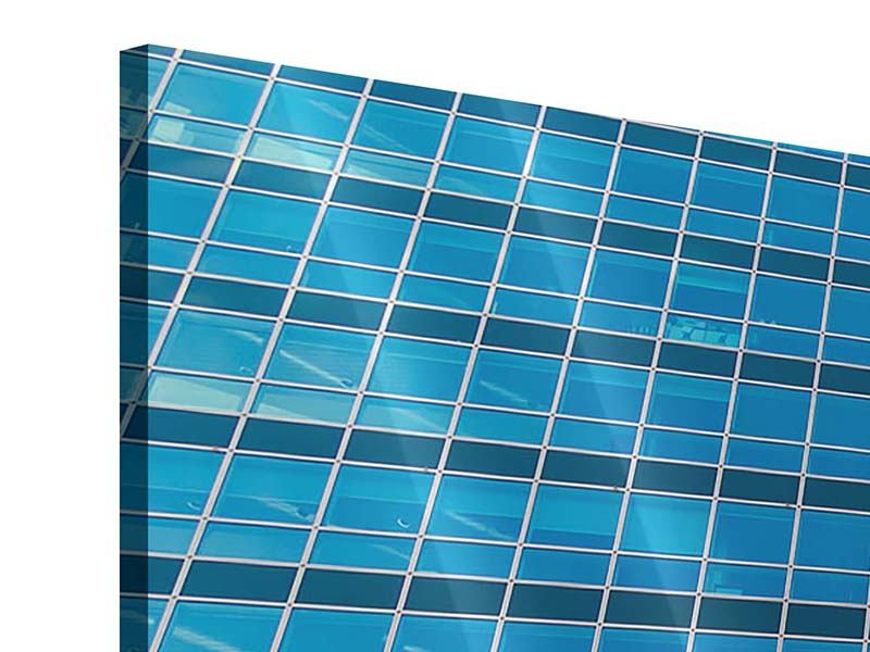 Acrylglasbild Panorama Wolkenkratzer-Spiegel