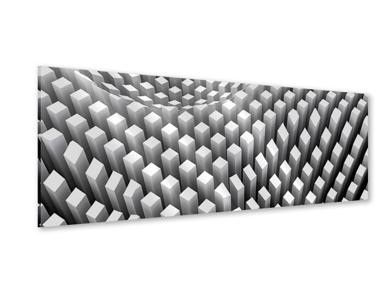 Acrylglasbild Panorama 3D-Rasterdesign