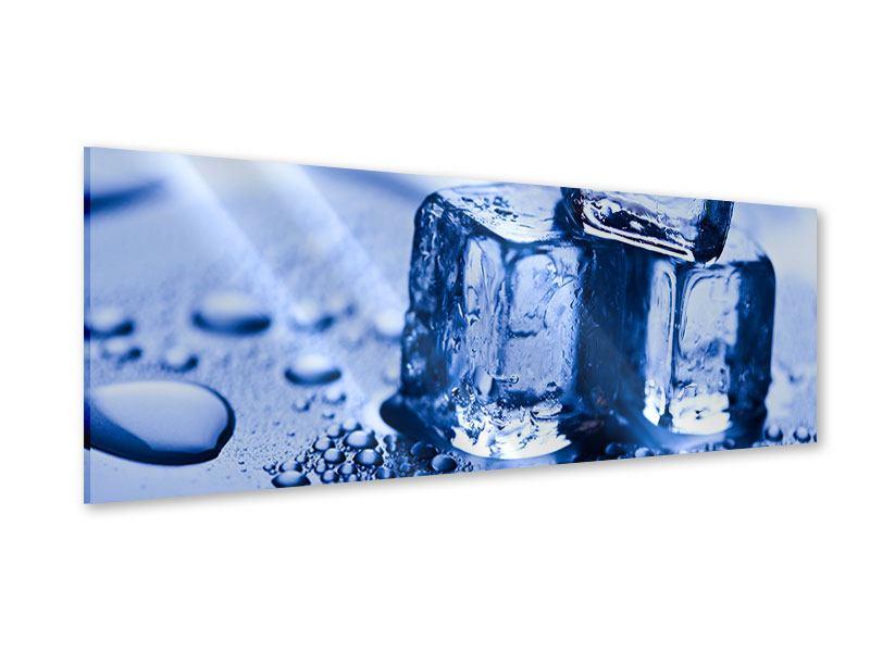 Acrylglasbild Panorama Eiswürfel