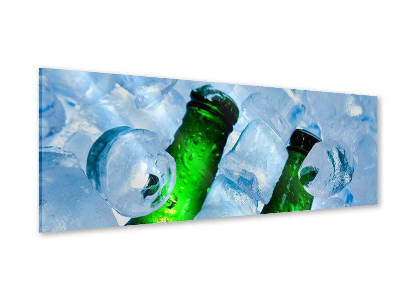 Acrylglasbild Panorama Eisflaschen