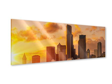 Acrylglasbild Panorama Skyline Washington