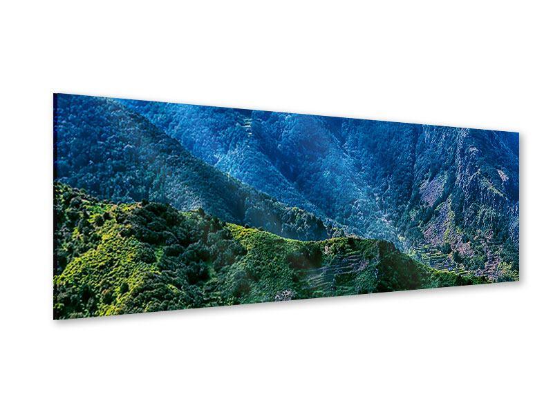 Acrylglasbild Panorama Die Berglandschaft