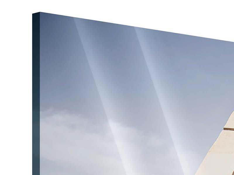 Acrylglasbild Panorama Imposante Hängebrücke