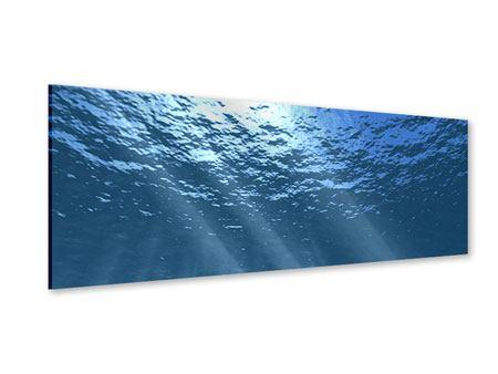 Acrylglasbild Panorama Sonnenstrahlen unter Wasser