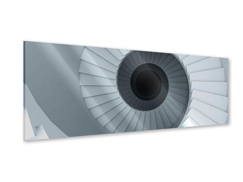 Acrylglasbild Panorama 3D Wendeltreppe