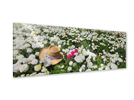 Acrylglasbild Panorama Die Frühlingsblumenwiese